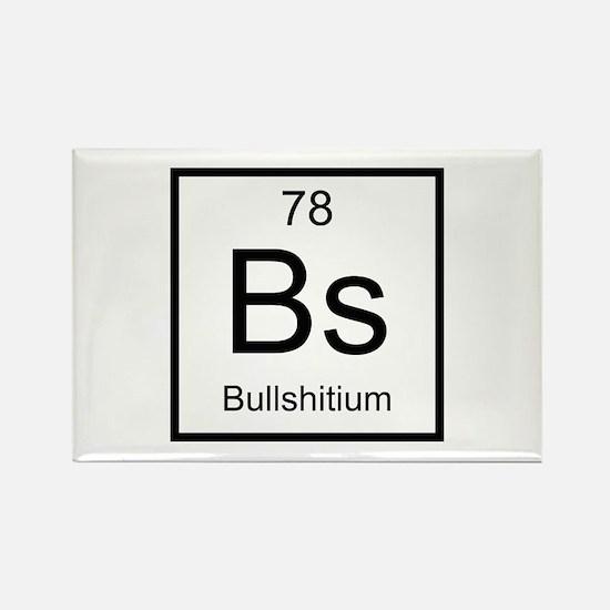 Bs Bullshitium Element Rectangle Magnet