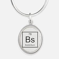 Bs Bullshitium Element Silver Oval Necklace