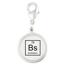 Bs Bullshitium Element Silver Round Charm