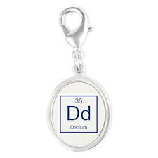 Dd Dadium Element Silver Oval Charm