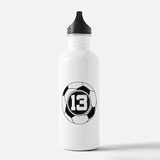 Soccer Number 13 Player Water Bottle