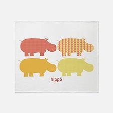 Lemonade Hippo Throw Blanket
