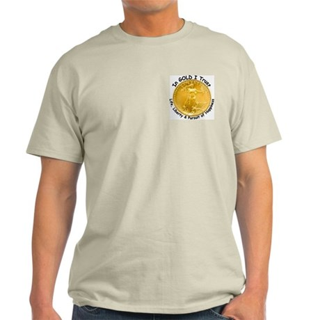 Galt's Gulch & Gold Coin on Ash Grey T-Shirt