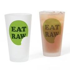 Eat Raw Drinking Glass