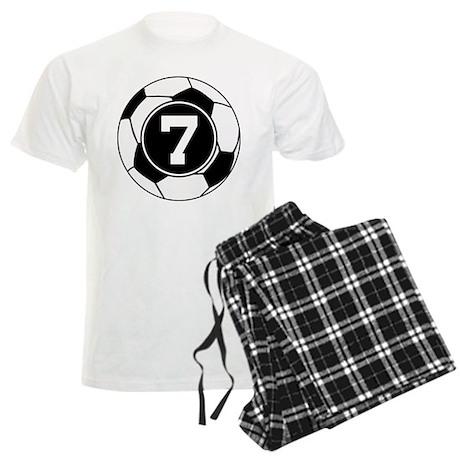 Soccer Number 7 Player Men's Light Pajamas