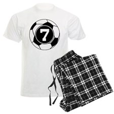 Soccer Number 7 Player pajamas