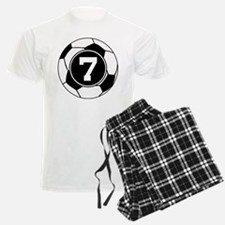 Soccer Number 7 Player Pajamas