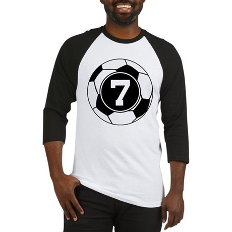 Soccer Number 7 Player Baseball Jersey
