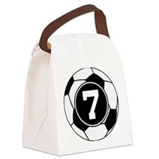 Soccer Number 7 Player Canvas Lunch Bag