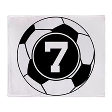 Soccer Number 7 Player Throw Blanket
