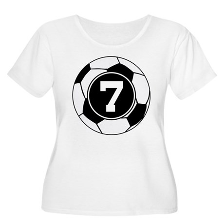 Soccer Number 7 Player Women's Plus Size Scoop Nec