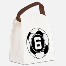 Soccer Number 6 Player Canvas Lunch Bag