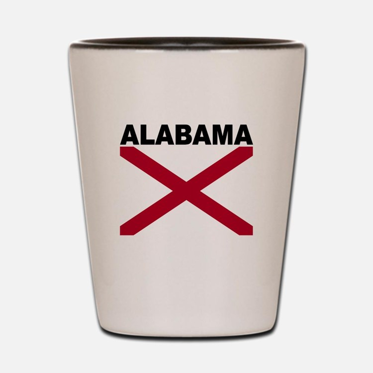 Alabama State Flag Shot Glass