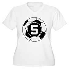 Soccer Number 5 Player T-Shirt