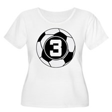 Soccer Number 3 Player T-Shirt