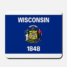 Wisconsin State Flag Mousepad