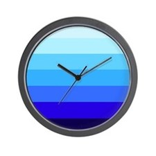 'Blue Stripes' Wall Clock