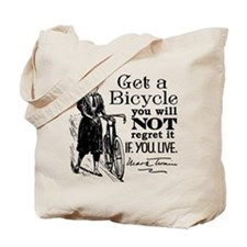 Twain Get A Bicycle Quote Tote Bag