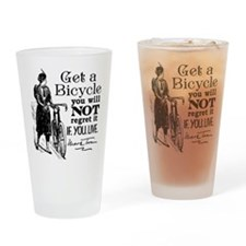 Twain Get A Bicycle Quote Drinking Glass