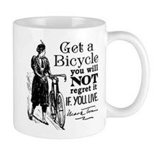 Twain Get A Bicycle Quote Mug