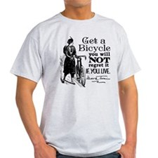 Twain Get A Bicycle Quote T-Shirt
