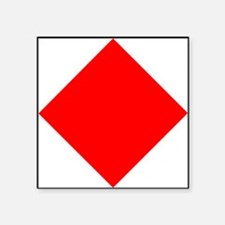Nautical Flag Code Foxtrot Sticker