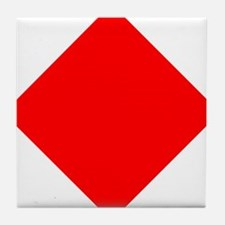 Nautical Flag Code Foxtrot Tile Coaster