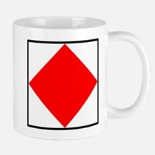 Nautical Flag Code Foxtrot Mug