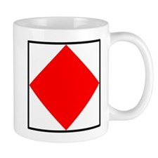 Nautical Flag Code Foxtrot Mug