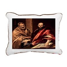 Saints Peter and Paul Rectangular Canvas Pillow