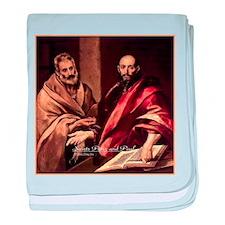 Saints Peter and Paul baby blanket