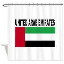 United Arab Emirates Flag Shower Curtain