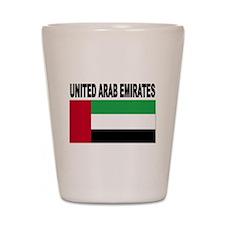 United Arab Emirates Flag Shot Glass
