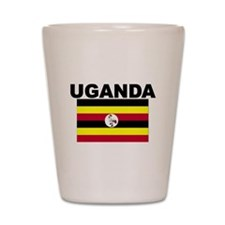 Uganda Flag Shot Glass
