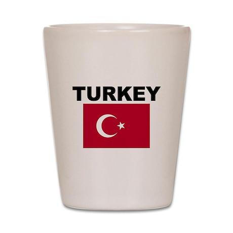 Turkey Flag Shot Glass