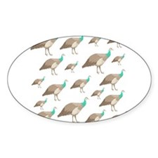 Peahen Pattern. Decal