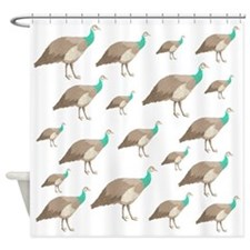 Peahen Pattern. Shower Curtain