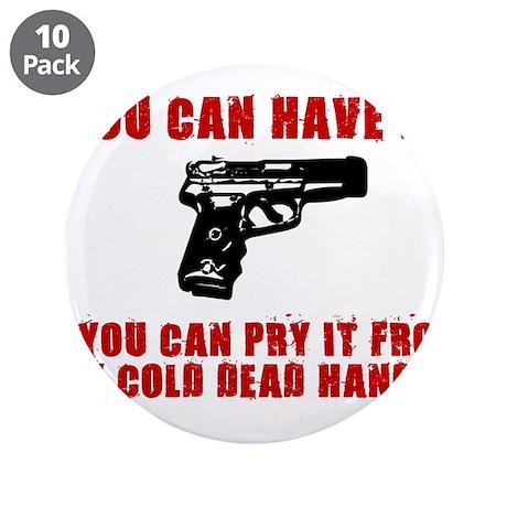 """SECOND AMMENDMENT GUN SHIRT 3.5"""" Button (10 pack)"""