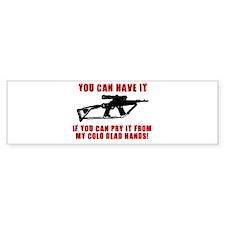 2ND AMMENDMENT GUN SHIRT Bumper Bumper Sticker