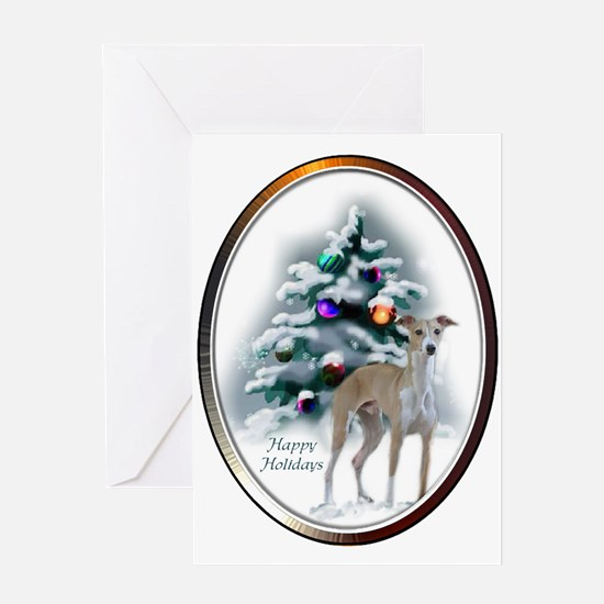 Italian Greyhound Christmas Greeting Card