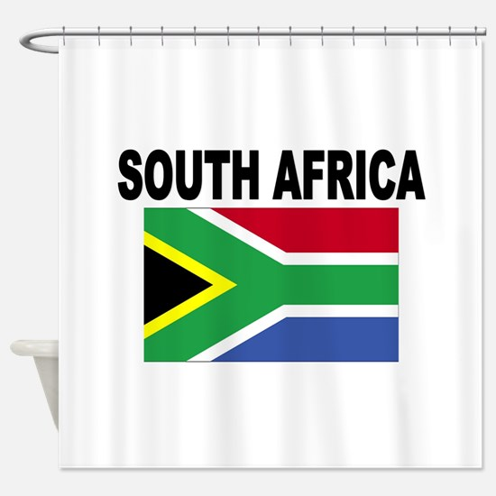 South Africa Flag Shower Curtain