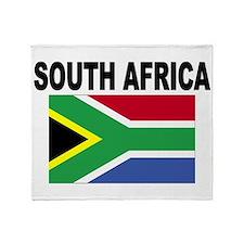South Africa Flag Throw Blanket