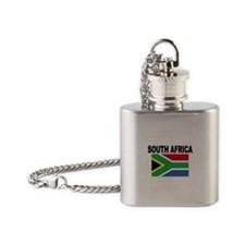 South Africa Flag Flask Necklace