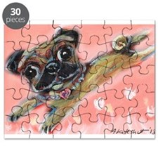 Flying pug love Puzzle