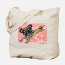 Flying pug love Tote Bag