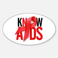 Aids T-Shirts World AIDS Day Oval Decal
