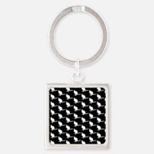 Monochrome Wallaby Pattern. Keychains