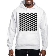 Monochrome Wallaby Pattern. Hoodie