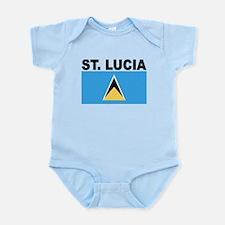 Saint Lucia Flag Body Suit