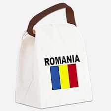 Romania Flag Canvas Lunch Bag